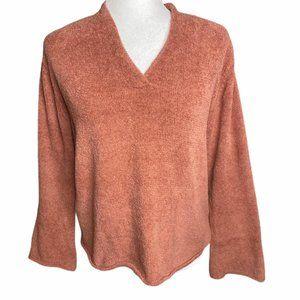 J Jill rusty orange super soft knit pullover S